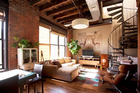 living room brooklyn ny decordemon industrial loft in brooklyn