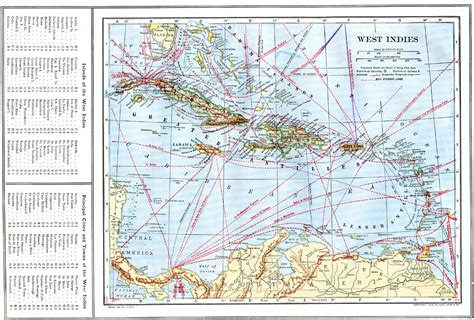 west indies political map west indies