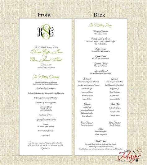 simple wedding program template free printable diy wedding programs simple but