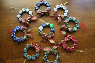 Upcycled beer bottle cap christmas ornament beer cap cap ornament