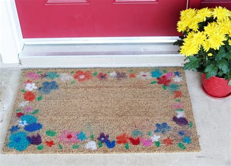 Flower Doormat by Flower Airbrush Doormat Make And Takes