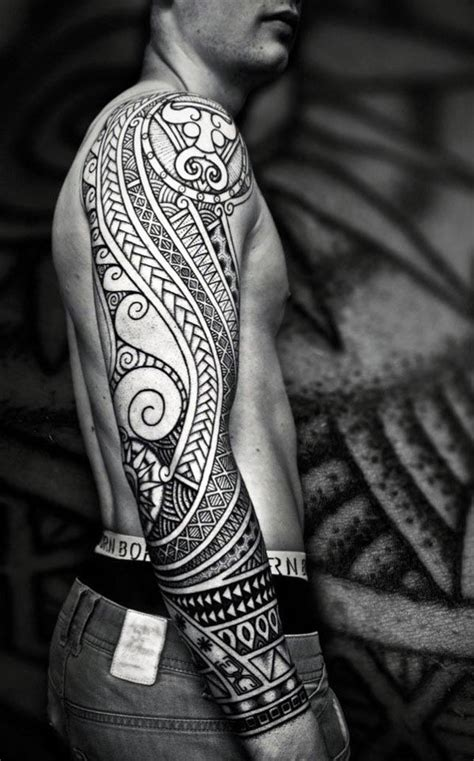 popular mens tattoo designs top 60 best tribal tattoos for symbols of courage