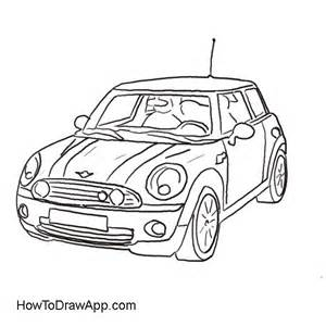 Mini Cooper Drawing Drawing Of The Mini Cooper Car Coloring Pages