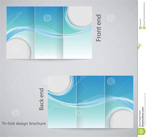 tri fold brochure template design tri fold brochure design stock vector image of layout