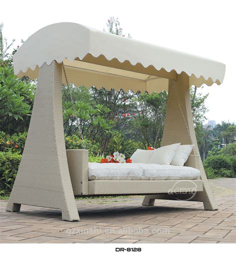 wicker swing bed popular garden ratttan swing bed with canopy outdoor
