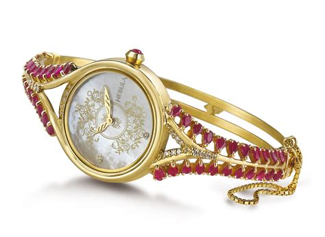 luxury watches in gold and precious stones by titan nebula