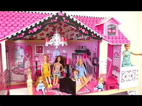 barbie big doll house big doll house 3 stories toy barbie doll playing video for children youtube