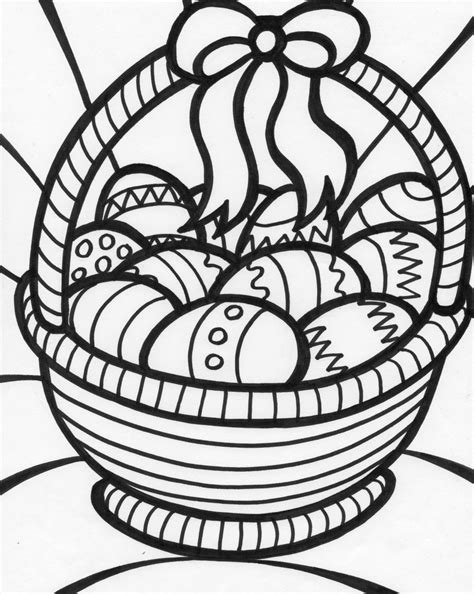 coloring pages for easter basket free coloring pages