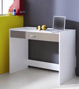 bureau enfant contemporain blanc et gris lucinda bureau