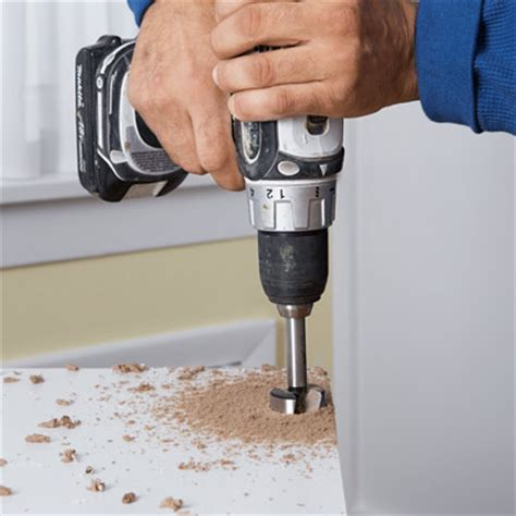 drill the cup holes how to install concealed style
