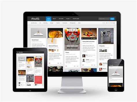 theme junkie responsive pinable responsive pinterest like wordpress theme mojo