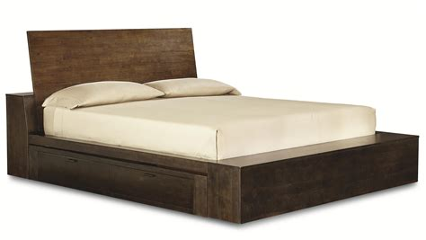 bed with drawers complete platform cal king bed with two storage drawers by legacy classic wolf and