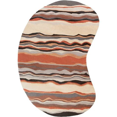 kidney shaped rugs artistic weavers odawara 6 ft x 9 ft indoor kidney area rug s00151013803 the home depot