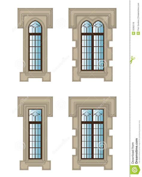 imagenes ventanas goticas ventanas g 243 ticas fijadas imagen de archivo libre de