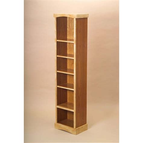 handmade narrow bookcase by vb woodworks custommade