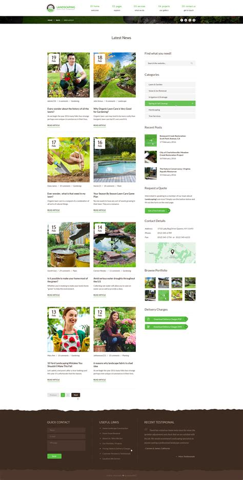grid layout for blogger landscaping lawn garden landscape construction