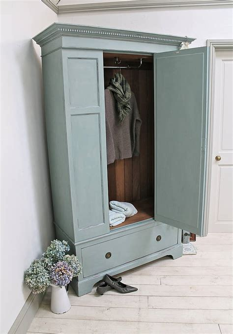 vintage painted wardrobe by distressed but not forsaken