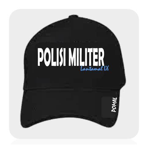 desain gambar topi polisi militer lantamal ix ambon desain topi pomal