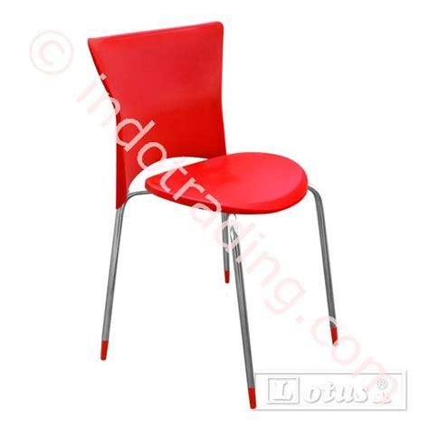 Jual Kursi Pantai Plastik jual kursi cafe plastik minimalis lt01 merah chrome harga murah surabaya oleh toko lotus chair