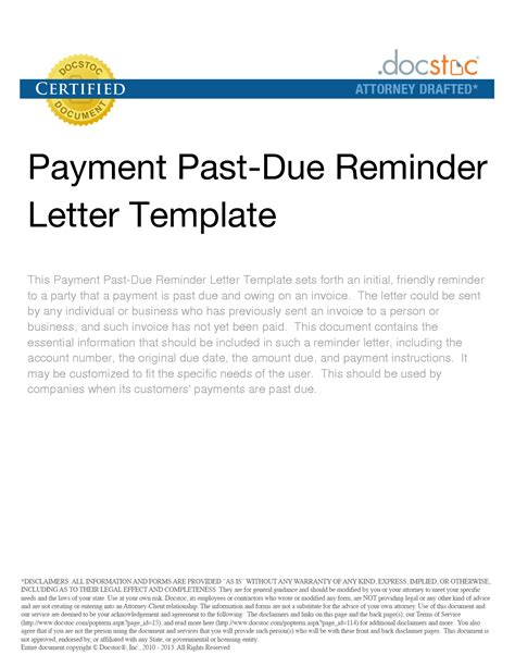 Payment Reminder Letter Before Due Date Template Best Photos Of Past Due Email Template Past Due Reminder Letter Sle Friendly Reminder Past
