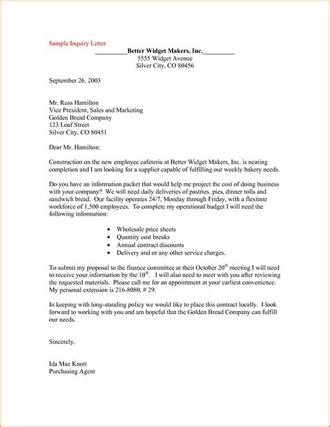 business letter format quizzes sle business inquiry letter the letter sle