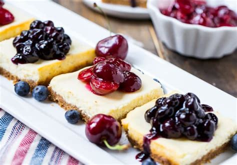 cheesecake topping bar lightened up cheesecake bars with fruit topping spicy southern kitchen