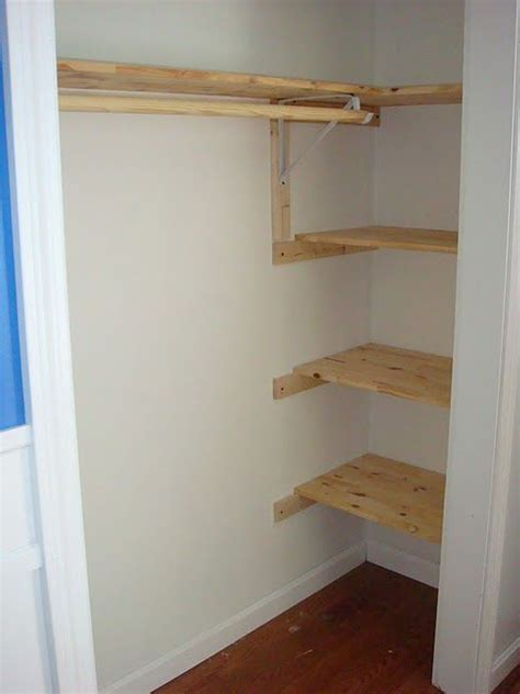 wood closet shelving idea for closet shelves think i may try this and cover the wood with paper cheap and