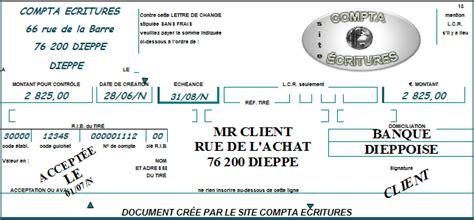 Pr Sentation Lettre De Change R 232 Glement D Un Client Par Lettre De Change Compta 233 Critures