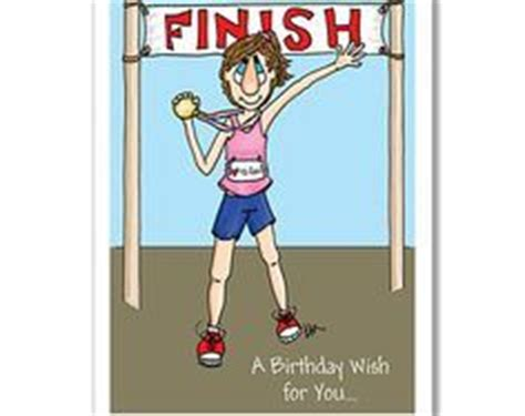 imagenes de happy birthday runner lady runner birthday card by alex clark girl dog run
