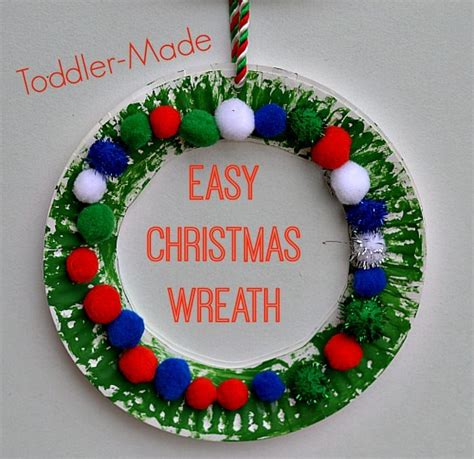 simple craft for christamas celebrationo crafts for easy wreath for toddlers littles