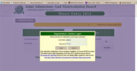 Acceptance Letter Uniben Jamb Direct Entry Form Step By Step Registration
