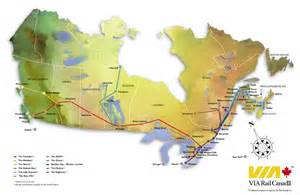 canada trains map map click here for a map of via rail s network