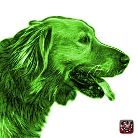 green golden retriever green golden retriever 4047 fs painting by ahn
