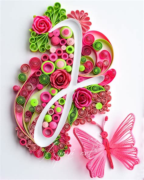 typography quilling tutorial ayani art