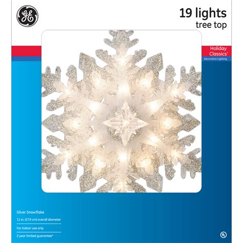 ge snowflake christmas lights general electric holiday classics 174 19ct incandescent
