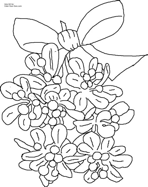 Christmas Mistletoe Coloring Page Mistletoe Coloring Page