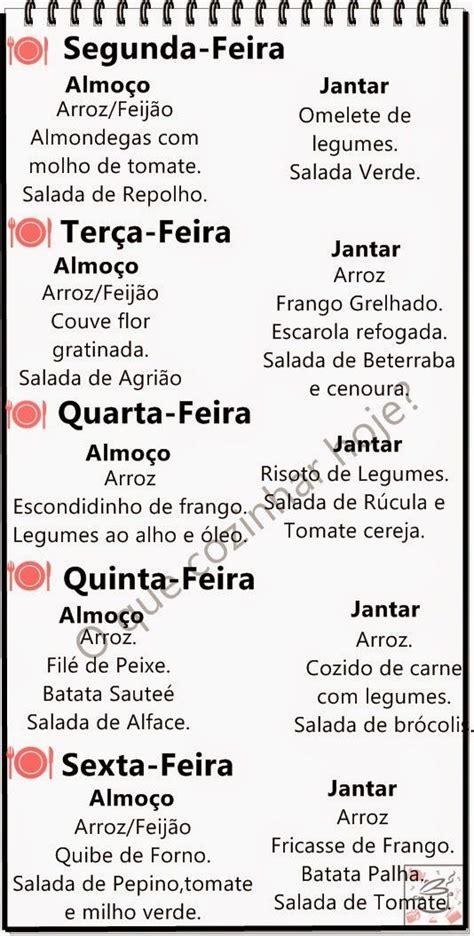 Calendario Q Dia E Hoje 25 Best Ideas About Cardapio Saudavel Semanal On