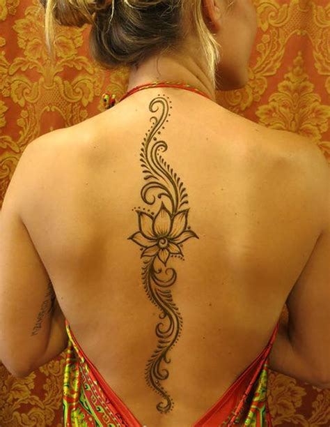 back henna tattoos henna back spine makedes