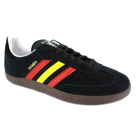 adidas samba adidas samba mens suede vulcanized trainers black yellow