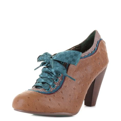 teal shoes womens poetic licence backlash teal lace up brown leather