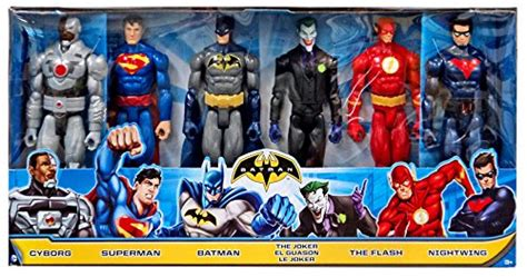 Tas Set 3 In 1 Blue Series Jj 3125 dc heroes comic 12 mattel figuras 6 pack batman