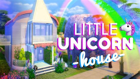 LITTLE UNICORN HOUSE!!! [ The Sims 4 House Building