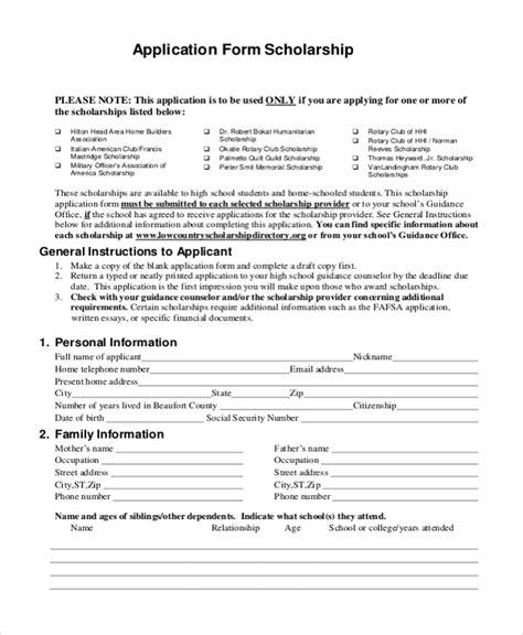 Sle Scholarship Application Form 9 Free Documents In Pdf Youth Sports Scholarship Application Template