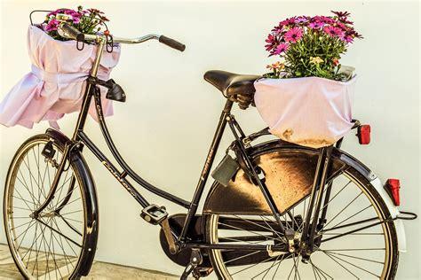 Keranjang Sepeda free photo bicycle flowers basket bike free image on pixabay 2157893