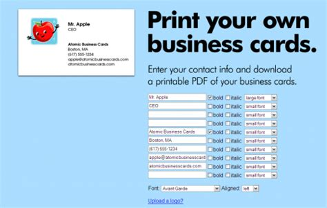 where can you make business cards create free business cards