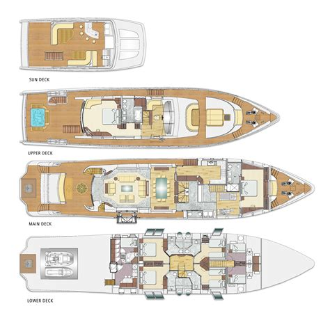 yacht deck layout ideas majesty 110