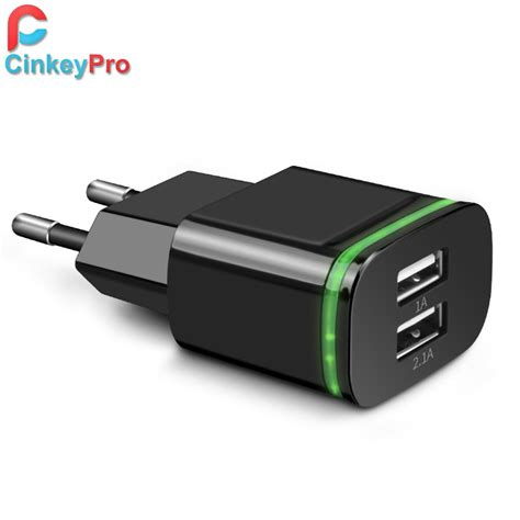 Samsung Eu 2 Ports Adapter Wall Usb 2a Output Charger Putih cinkeypro eu 2 ports led light usb charger 5v 2a wall adapter mobile phone device data