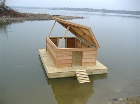 How To Build A Duck House by Custom Floating Duckhouse
