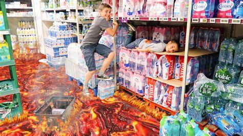 lava le the floor is lava challenge le sol c est de la lave