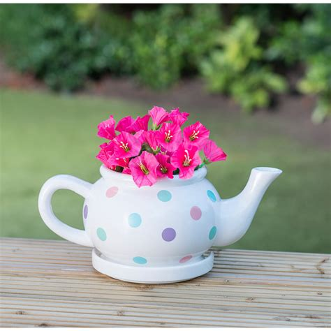 Teapot Planters by B M Gt Ceramic Teapot Planter Multicolour 2968444
